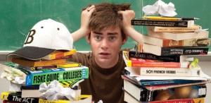 Boy Stress SAT Desk